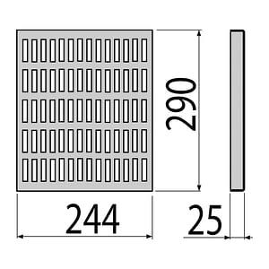 AlcaPlast APR2-1231 - Krycí rošt pre priemyselné vpuste APR2 nerez AISI 316L