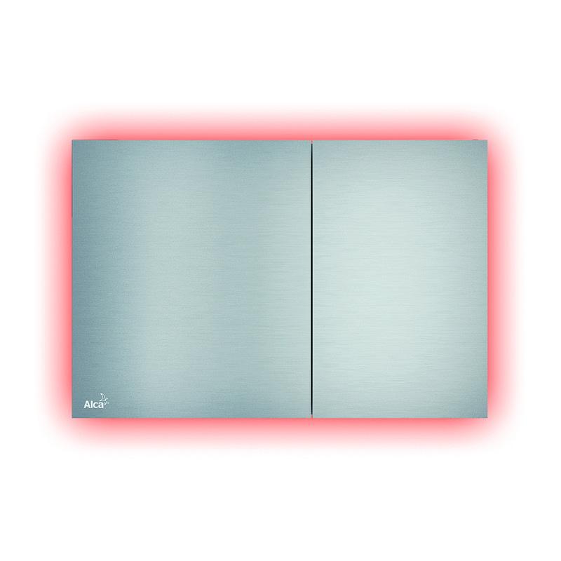 AlcaPlast AIR LIGHT R - Ovládacie tlačítko pre predstenové inštalačné systémy s podsvietením rainbow, alunox-mat