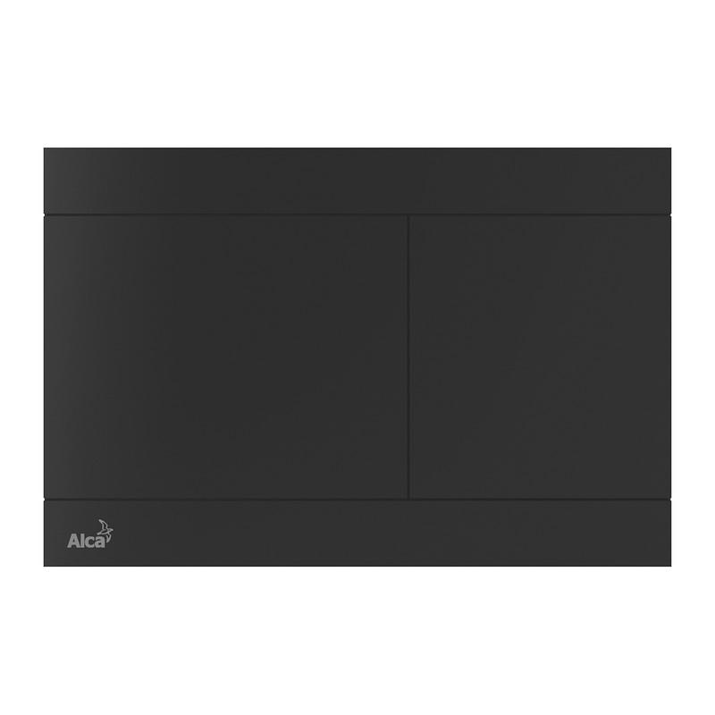 AlcaPlast FUN-BLACK - Ovládacie tlačítko pre predstenové inštalačné systémy, nerez-čierna mat