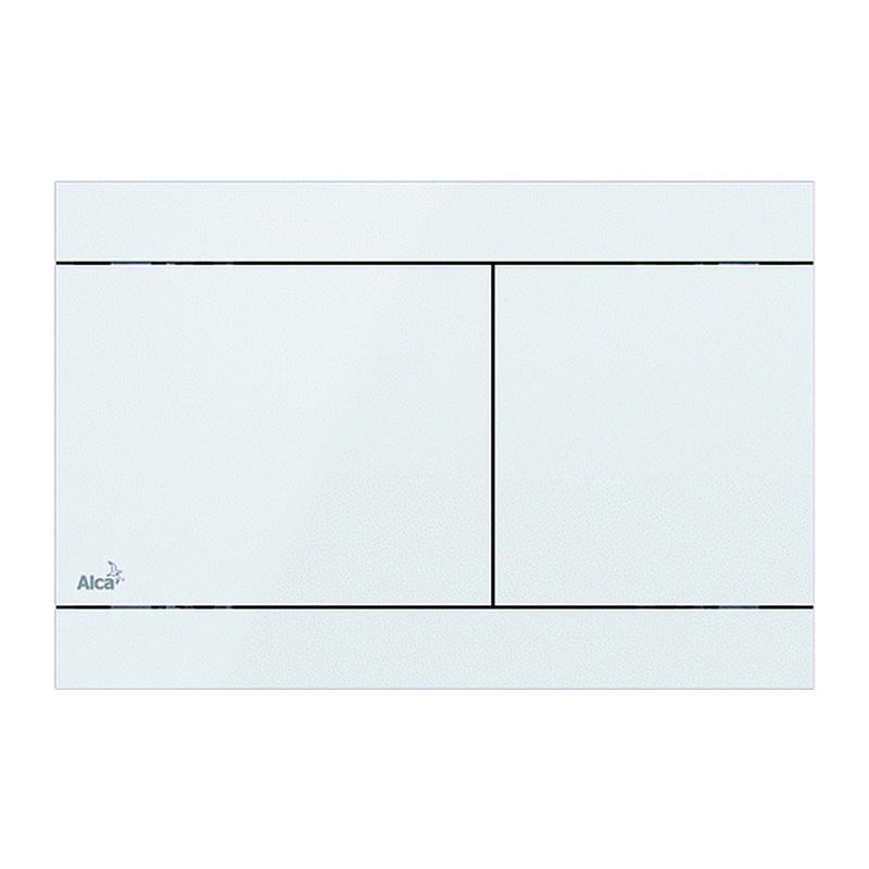 AlcaPlast FUN-WHITE - Ovládacie tlačítko pre predstenové inštalačné systémy, nerez-biela lesk