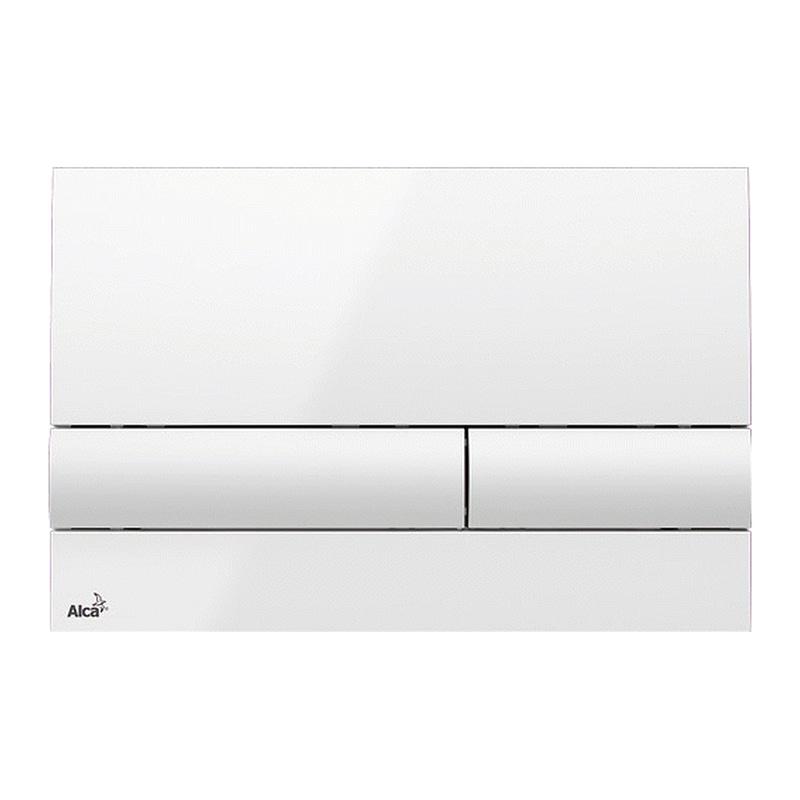 AlcaPlast M1710 - Ovládacie tlačítko pre predstenové inštalačné systémy, biela-lesk